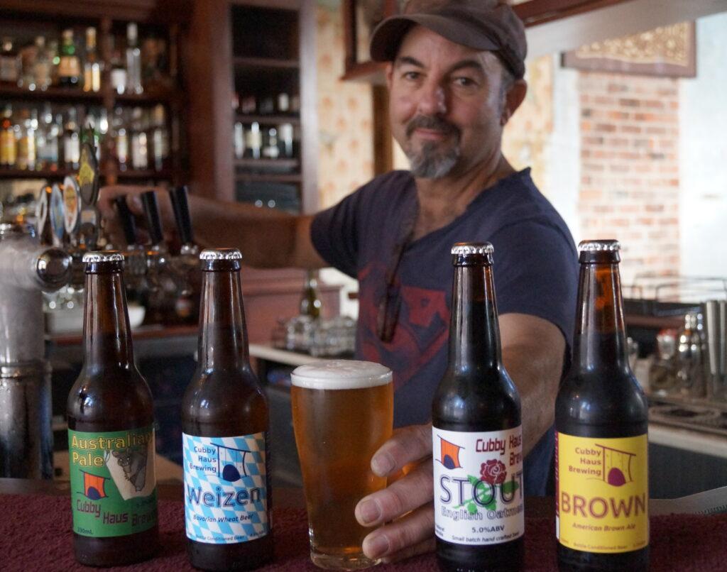 Cubby Haus beer at Main Bar
