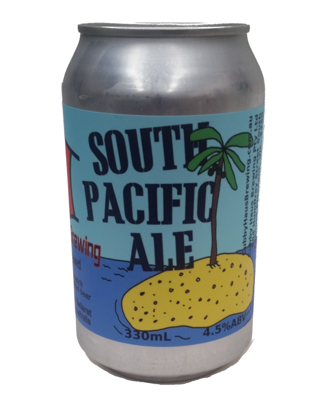 south pacific ale can